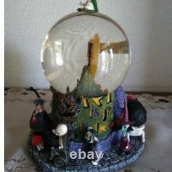 Nightmare Before Christmas Jack Skellington Snow Globe Disney Music Box Rare /5
