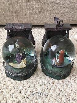 Nightmare before Christmas Jack & Sally Snowglobe bookends from the Disney store