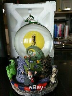 Nightmare before christmas Musical Light Up Snow Globe Original Disney 1993