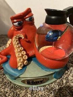 Pixar Disney Store Nemo Finding Dory Hank Octopus Snow Globe 2016 Snowglobe DVD