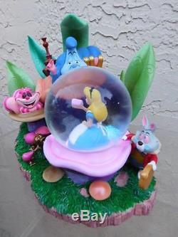Rare Disney Alice In Wonderland Caterpillar Snow Globe Musical Collectible