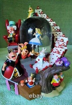 RARE Disney ALICE IN WONDERLAND Musical Snow Globe