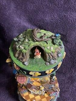 RARE Disney Alice In Wonderland Hourglass Snowglobe Snow Globe Mint Must See