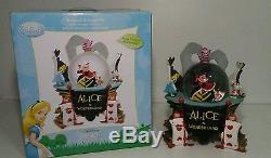 RARE Disney Alice in Wonderland QUEEN OF HEARTS Musical SnowGlobe