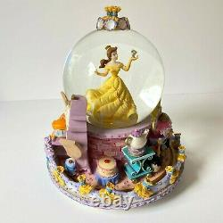 RARE Disney Beauty And The Beast BELLE Snow Globe 1991 Vintage