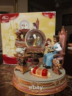 RARE Disney Beauty and the Beast Be Our Guest Belle Snow Globe snowglobe w box