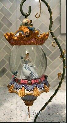 RARE Disney Cinderella Hanging Snow Globe & Vine Stand