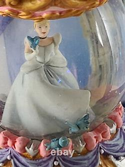 RARE Disney Cinderella Hanging Snow Globe & Vine Stand NEW