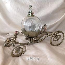 RARE Disney Cinderella MAGICAL COACH CARRIAGE Figurines LE SnowGlobe-MIB