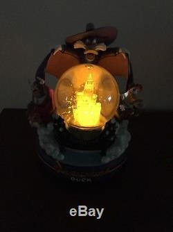 RARE Disney Darkwing Duck Snow Globe. Lights Up! Plays Beethoven's 5th Symphony