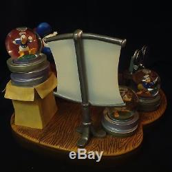 RARE Disney Donald Duck THROUGH THE YEARS Figurine with Minis Changeable SnowGlobe