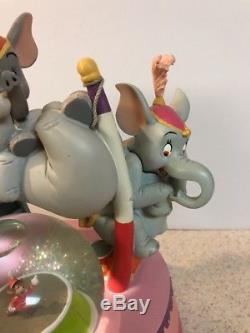 RARE Disney Dumbo Mad Elephants Circus snowglobe RARE Large Working 10
