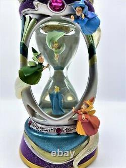 RARE Disney Fairies Hourglass Snow globe Musical with Lights