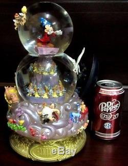 RARE Disney Fantasia Sorcerer Mickey Mouse Chernabog Villain Snowglobe Music Box