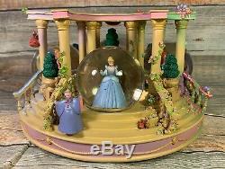 RARE Disney Four Seasons Princess Musical Snow Globe