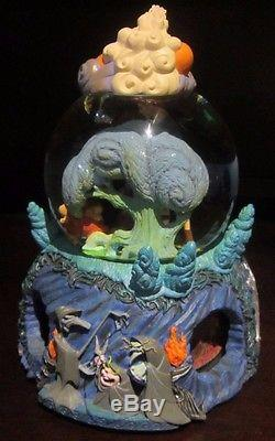 RARE Disney Hercules Zeus Megara Hades Witches Philoctetes Snowglobe Music Box
