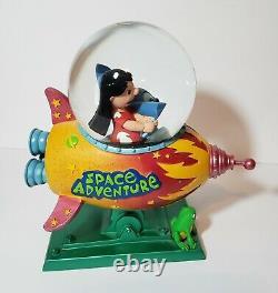RARE Disney Lilo And Stitch Space Adventure Space Ship Snow Globe TESTED
