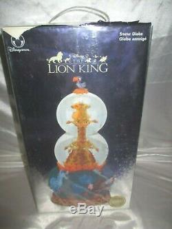 RARE Disney Lion King Giraffe Simba Rotating Double Bubble Music Snow Globe