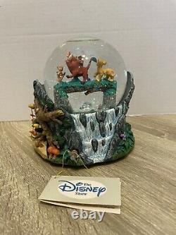 RARE Disney Lion King Hakuna Matata Musical Snowglobe Snow Water Globe Excellent