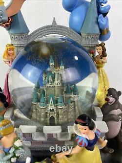 RARE Disney Magic Kingdom Castle Lighted Snow Globe Snowglobe Waterglobe
