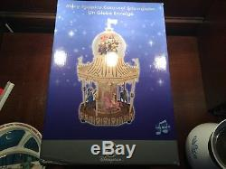 RARE Disney Mary Poppins CARROUSEL Figurines Musical Snowglobe
