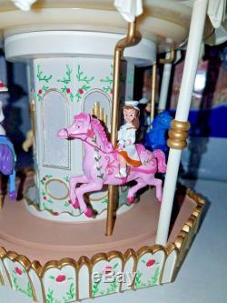 RARE Disney Mary Poppins Horse Carousel Snowglobe Jolly Holiday in Original BOX