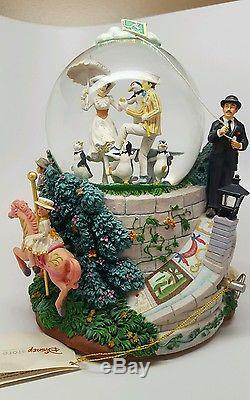 RARE Disney Mary Poppins LET'S GO FLY A KITE Musical Motions Snowglobe-MIB