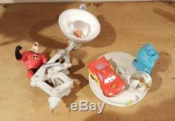RARE! Disney Pixar Lamp Snowglobe Monsters inc Nemo Toy Story Ratatouille