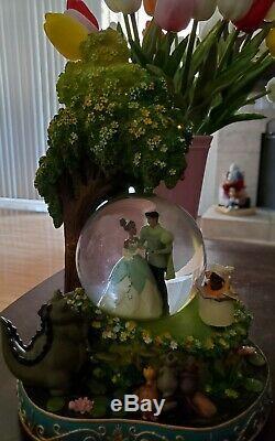 RARE Disney Princess and the Frog Tiana Naveen Snow Globe