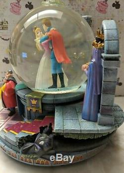 RARE Disney Sleeping Beauty Once Upon A Dream Musical Snow Globe
