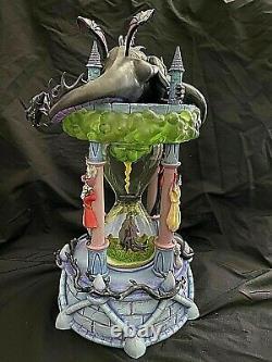 RARE Disney Snow Globe Villains Hourglass Lights Up/Sound