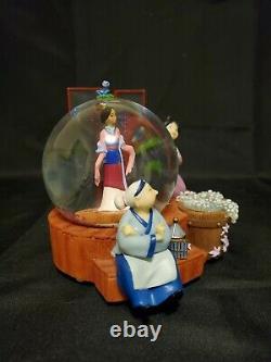 RARE Disney Store Mulan Musical Snow Globe Preparing for Matchmaker HTF