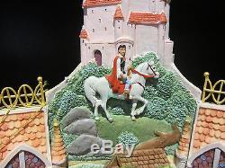 RARE Disney Store Princess Snow White Aurora Cinderella Snowglobe Music Box
