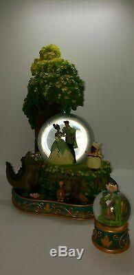 RARE Disney Store Princess and the Frog Tiana Naveen Snow Globe Wedding + small