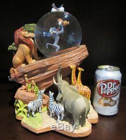RARE Disney The Lion King Circle of Life Mufasa Pride Rock Snowglobe Music Box