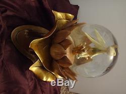 RARE Disney TinkerBell Gold Anniversary Snowglobe with box