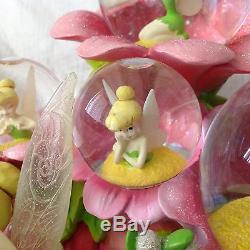 RARE Disney TinkerBell MOODY BLOOM Musical Multi Figurines Snow-globe-MIB