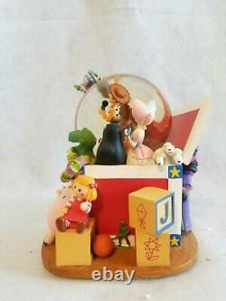 RARE Disney Toy Story Musical Snowglobe Andy's Toybox