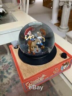 RARE Disney Toy Story Round Up You've Got a Friend in Me Music Box Snow globe