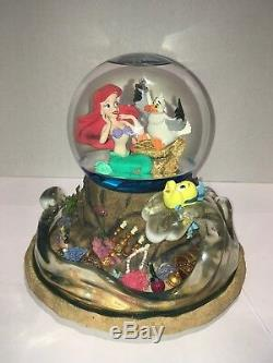 RARE Disney's The Little Mermaid Music Snow Water Globe Part Of Your World