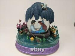 RARE Vintage Disney The Little Mermaid Kiss The Girl Musical Snow Globe READ Des