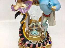 RARE! Walt Disney World Aladdin Hourglass Snowglobe with lights & music 1992