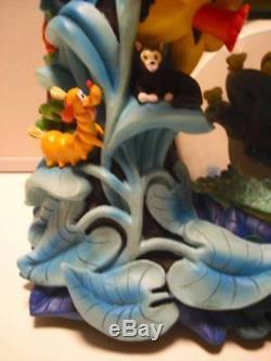 Rare! Disney Alice's Adventures in Wonderland Snow Globe Music Box Figure