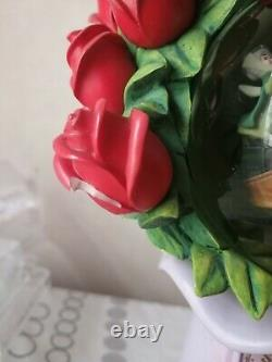 Rare Disney Aurora Sleeping Beauty Rose Snow Globe princess flower Prince philip