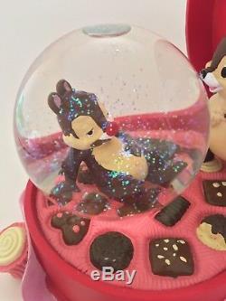 Rare Disney Chip N' Dale in Candy Box Snow Globe Large globe withoriginal box