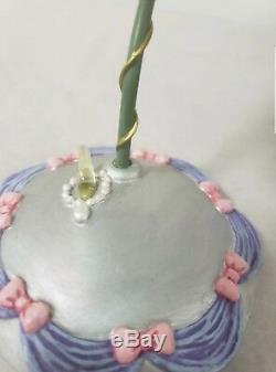 Rare Disney Cinderella Hanging Snow Globe & Stand