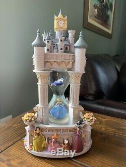 Rare Disney Cinderella Hourglass Snowglobe Music Box plays So This is Love