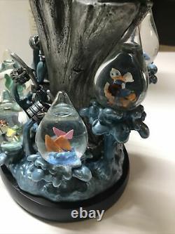 Rare Disney Fantasia 2000 Sorcerer Mickey Statue With 7 Mini Snow Globes 24144
