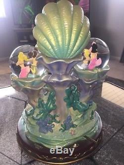 Rare Disney Little Mermaid Daughters Of Triton 20th Anniversary Snowglobe
