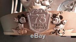 Rare Disney Mickey And Minnie Mouse 75th Anniversary Musical Snowglobe